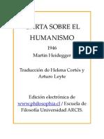 Heidegger Carta Sobre El Humanismo