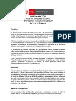 """Bases Concurso Nacional """"Fotografía para la Convivencia"""""""