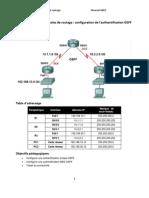 TP Sécurisation des protocoles de routage OSPF