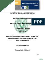 obtencion industrial del etileno propileno y butano