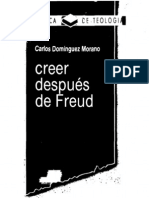 Dominguez Morano, Carlos - Creer Despues de Freud