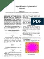 Benchmarking of Heuristic Optimization Methods