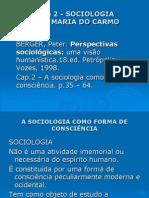 Slides - BERGER, Peter. Perspectivas Sociológicas