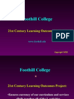 Foothill Learning Outcomes Project
