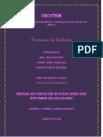 Manual de partición Software