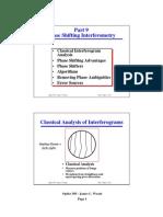 Phase Shifting Interferometry