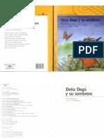 Delia Degú y su sombrero