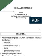 (Edited) Pemeriksaan Neurologi
