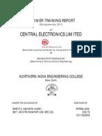 CEL Training Report
