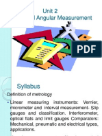 Unit 2 Linear and Angular Measurement