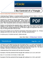 How to Solve the Centroid of a Triangle