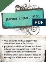 Barnes Report 1951