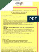 Estructura Del Entrenamiento de La Fuerza a Lo Largo de La Temporada en El f