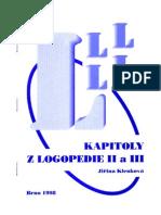 Jiřina Klenková Kapitoly z logopedie II a III
