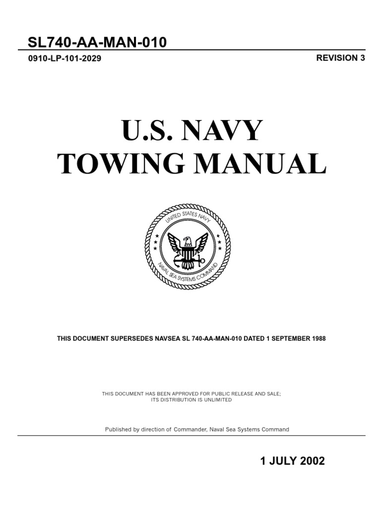Us Navy Towing Manual Revision 3 Rudder Ships 1990 Lincoln Mark Vii Wiring Diagram For Etac System