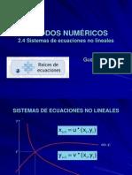 2.4 Sistemas de Ecuaciones No Lineales