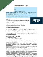 SESION ORDINARIA NU 04-07