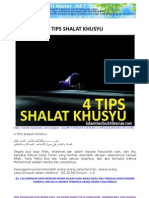 4 Tips Shalat Khusyu