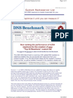 GRC freeware how to for DNS BENCHMARK