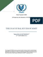 KYUEM Summit 2012 Info Pack