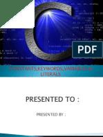c language keywords,variables &constants