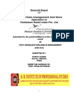 Supply Chain Management and Store Operation in Pantaloon Retail India Pvt[1]. Ltd Pantaloon