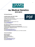 M2 Genetic syllabus 2012-2013 8 10 2012