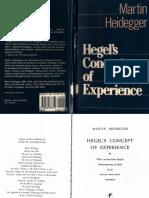Heidegger - Hegel's Concept of Experience
