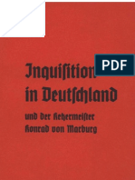Alckens, A. - Inquisition in Deutschland Und Der Ketzermeister Konrad Von Marburg (1934, 20 S., Scan-Text, Fraktur)