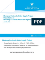 Monterey Peninsula Water Supply Project Presentation June 2012