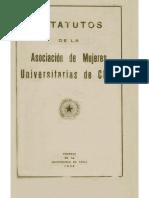Estatutos de La Asociacion Universitaria de Muejres