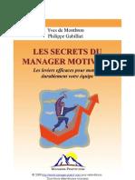 Les Secrets Du Manager Motivant