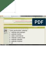 jasa pembuatan sistem informasi, web site, server, program, jaringan internet, dan ip tv (lokasi jogja contact