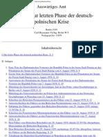 Auswaertiges Amt - Weissbuch - Urkunden Zur Letzten Phase Der Deutsch-polnischen Krise (1939, 44 S., Text)