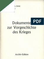 Auswaertiges Amt - Weissbuch Nr. 2 - Dokumente Zur Vorgeschichte Des Krieges (1939-1995, 523 S., Scan-Text)