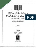 Box 02-14-004 Folder 0160 (CWA Whistle-blower Ira Levin, Other Matters)