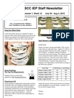 BCC IEP Staff Newsletter Week 12 Sem 1