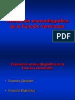 Evaluacion de Función ventricular.Parte 1