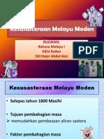 Kesusasteraan Melayu Moden