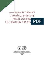Evaluación Económica de Políticas Públicas Para el Control del Tabaquismo en Venezuela - Organización Mundial de la Salud