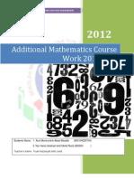 Additional Mathematics Course Work 2012 SPM