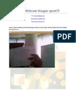 Interfacing Webcam Dengan OpenCV