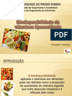Apresentaçao artigo biodisponibilidade de vitaminas