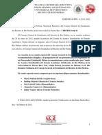Certificación A-25-01-2012 (Comite Especial)
