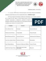 Certificación A-07-06-2012 (Directiva Electa 2012-2013)