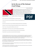 Code of Etiquette for the Use of the National Flag of Trinidad and Tobago