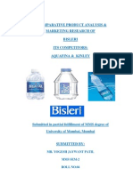A COMPARATIVE PRODUCT ANALYSIS & MARKETING RESEARCH OF BISLERI ITS COMPETITORS