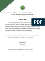Approval Sheet