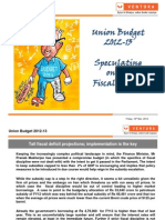 Ventura- Budget 2013
