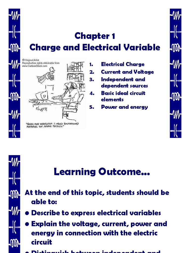 Chapter 1 Electric Current Charge Circuits Controlled Voltage Source Indep